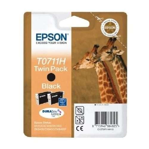 Epson T0711H noir Twin Pack Cartouches d'encre d'origine au prix le moins cher sur promos-boutique.com