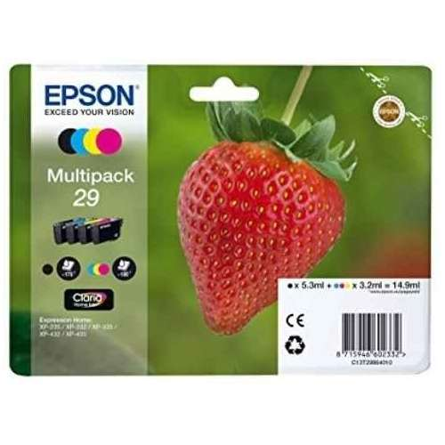 EPSON Multipack Fraise T2986 : cartouches noir, jaune, cyan, magenta