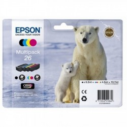 EPSON Multipack Ours polaire T2616 noir, cyan, magenta, jaune