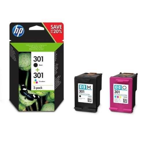 HP 301 noir, couleur Cartouches d'encre pour Imprimante HP Deskjet 3050S