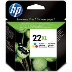 HP 22XL cyan, magenta, jaune Grande Capacité (C9352CE)