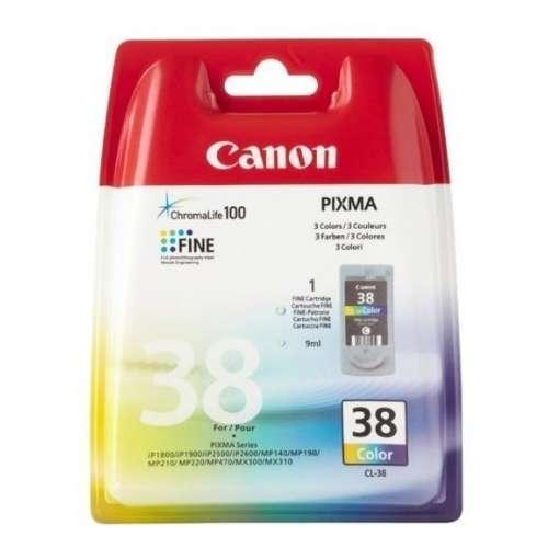 Canon CL-38 cyan, magenta, jaune Cartouche d'encre d'origine