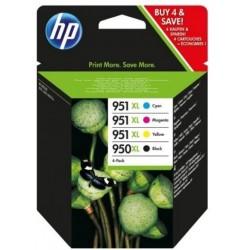 HP 950XL/951XL Pack de 4 Cartouches d'encre Noir, cyan, magenta, jaune Grande Capacité (C2P43AE)