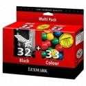 Lexmark Combo Pack 32 + 33 noir, couleur
