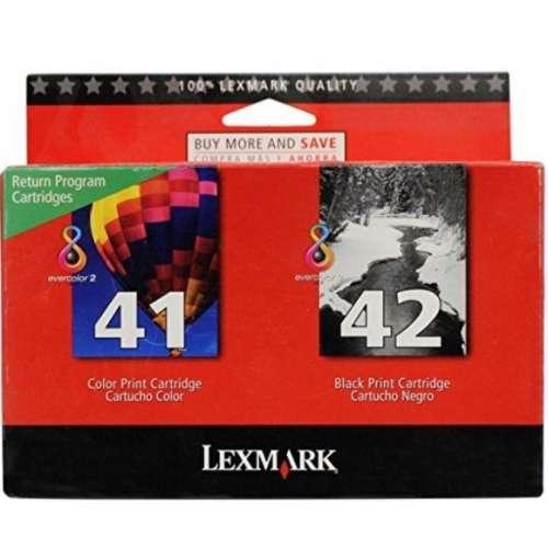 LEXMARK 41 / 42 noir couleur Cartouches jet d'encre originale - 18Y0238