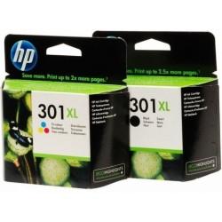 HP 301XL noir couleur Cartouches d'encre d'origine
